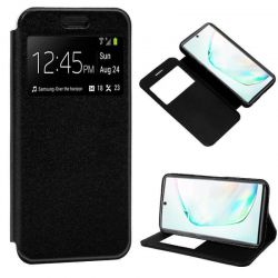 Funda libro con tapa, ventana y soporte Samsung Galaxy Note 10 Plus Negro