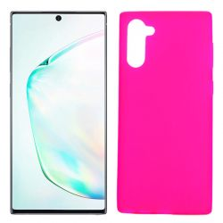Funda Silicona Samsung Galaxy Note 10 semitransparente color rosa