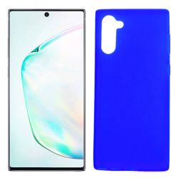 Funda Silicona Samsung Galaxy Note 10 semitransparente color azul