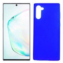 Funda Silicona Samsung Galaxy Note 10 semitransparente color azul