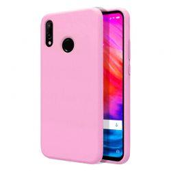 Funda de Silicona tipo iPhone para Xiaomi Redmi Note 7 Rosa