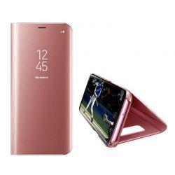 Funda libro de espejo Clear View para Samsung Galaxy A50 Rosa
