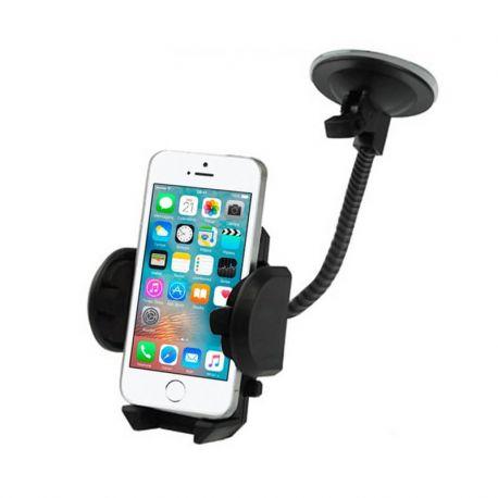 Soporte de móvil para coche con brazo largo y ventosa.