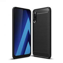 Funda TPU Forcell Carbon tipo fibra de carbono Samsung Galaxy A70