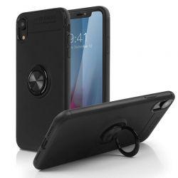 Funda magnética con soporte de anillo para iPhone XS Max