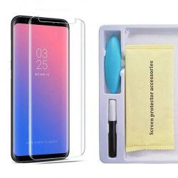 Protector Pantalla Cristal Templado UV Curvo para Samsung Galaxy S9