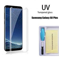Protector Pantalla Cristal Templado UV Curvo para Samsung Galaxy S8 Plus