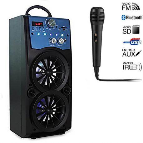 Altavoz de Torre Bluetooth Paide Digital 16W con Karaoke Radio USB SD Aux