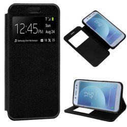 Funda libro Flip Cover con Tapa y Ventana Samsung Galaxy J5 2017 Negro