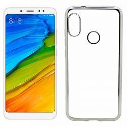 Funda TPU Borde Metalizado Plata - Xiaomi Redmi Note 5 / Note 5 Pro