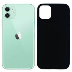 Funda silicona negro iPhone 11, trasera mate