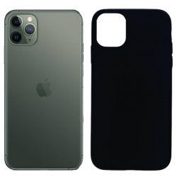Funda silicona negro iPhone 11 Pro, trasera mate