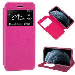 Funda de libro cierre imán interior Ventana y Soporte iPhone 11 Pro Rosa
