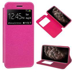 Funda de libro cierre imán interior Ventana y Soporte iPhone 11 Pro Max Rosa