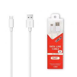 Cable Micro Usb Carga y Datos 3A Temco para Móvil y Tablet 1 Metro
