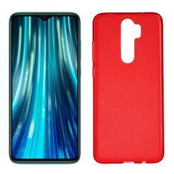 Funda de Silicona Semitransparente para Xiaomi Redmi Note 8 Pro Rojo