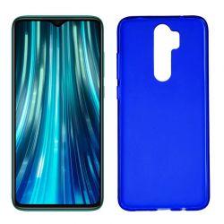 Funda de Silicona Semitransparente para Xiaomi Redmi Note 8 Pro Azul