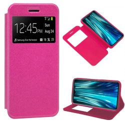 Funda libro Cierre Magnético, Tapa y Ventana Xiaomi Redmi Note 8 Pro Rosa