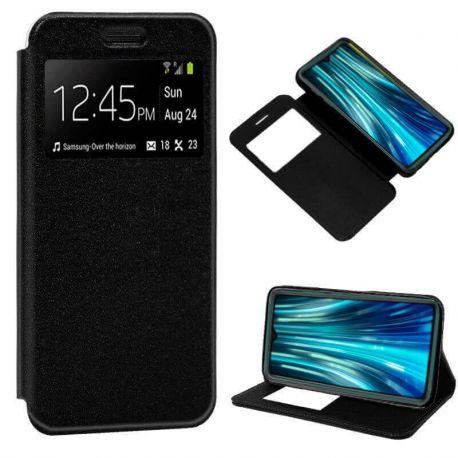 Funda libro Cierre Magnético, Tapa y Ventana Xiaomi Redmi Note 8 Pro Negro