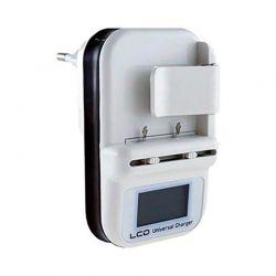 Cargador de batería universal con Led y USB incorporado para móviles