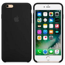 Funda de Silicona suave con logo para Apple iPhone 6 / 6S Negro