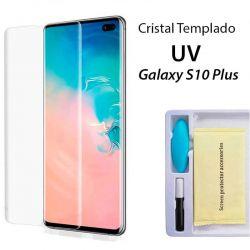 Protector Pantalla Cristal Templado UV Curvo para Samsung Galaxy S10 Plus