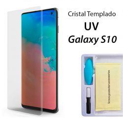 Protector Pantalla Cristal Templado UV Curvo para Samsung Galaxy S10