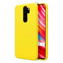 Funda de Silicona Líquida Suave para Xiaomi Redmi Note 8 Pro Amarillo mate