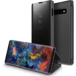 Funda con tapa de espejo Clear View para Samsung Galaxy S10 Plus Negro