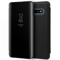 Funda con tapa de espejo Clear View para Samsung Galaxy S10 Negro