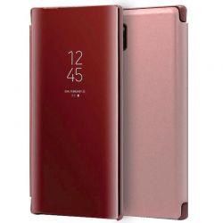 Funda con tapa de espejo Clear View para Samsung Galaxy Note 10 Plus Rosa