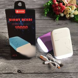 Bateria Externa Night Pearl Power Bank 10000 mAh con Linterna y 2.1A