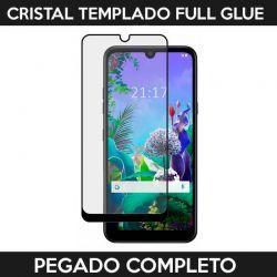 Protector pantalla Cristal Templado Full Glue LG Q60 / K50 Negro