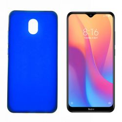 Funda de silicona azul para Xiaomi Redmi 8A Semitransparente y mate