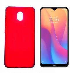 Funda de silicona roja para Xiaomi Redmi 8A Semitransparente y mate
