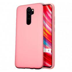 Funda de Silicona Líquida Suave para Xiaomi Redmi Note 8 Pro Rosa mate