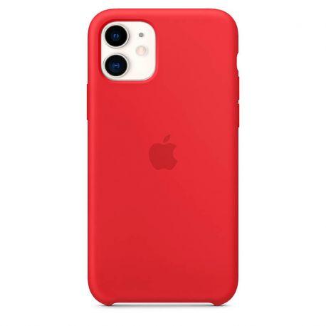 Funda de Silicona suave con logo para Apple iPhone 11 Rojo