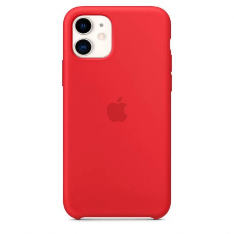 Funda de Silicona suave con logo para Apple iPhone 11 Rojo