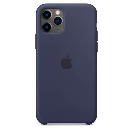 Funda de Silicona suave con logo para Apple iPhone 11 Pro Azul Marino