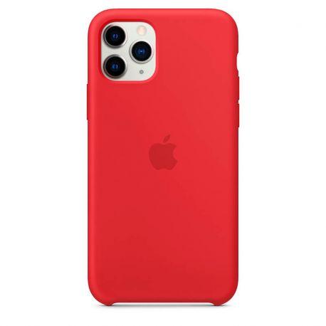 Funda de Silicona suave con logo para Apple iPhone 11 Pro Rojo