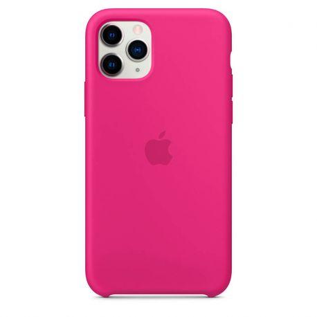 Funda de Silicona suave con logo para Apple iPhone 11 Pro Rosa
