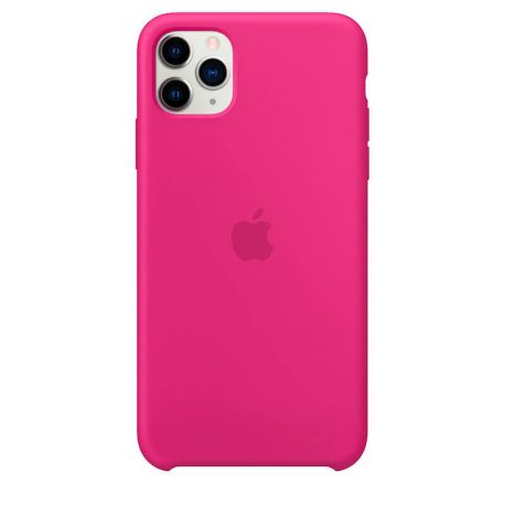 Funda de Silicona suave con logo para Apple iPhone 11 Pro Max Rosa