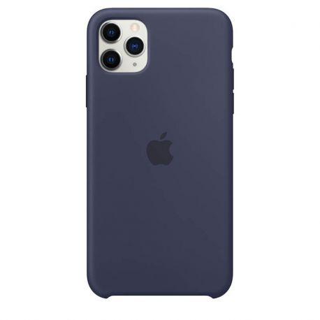 Funda de Silicona suave con logo para Apple iPhone 11 Pro Max Azul