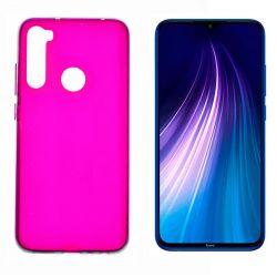 Funda de silicona rosa para Xiaomi Redmi Note 8 Semitransparente y mate