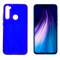 Funda de silicona Azul para Xiaomi Redmi Note 8 Semitransparente y mate