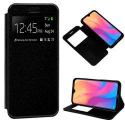 Funda de Tapa con Imán, Ventana y Soporte para Xiaomi Redmi 8A Negro