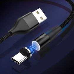 Cable Magnético USB Tipo C 2A de Carga y Datos de 1 metro