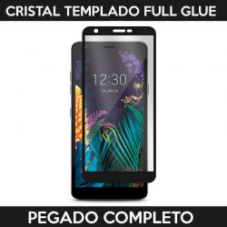 Protector pantalla Cristal Templado Full Glue LG K30 Negro