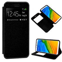 Funda libro Tapa y Ventana - Xiaomi Redmi Note 5 / Note 5 Pro Negro