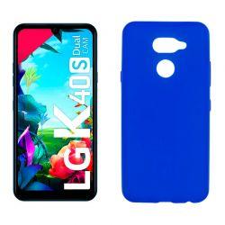 Funda de silicona azul para LG K40S Semitransparente y mate